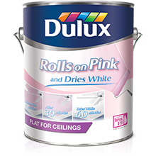 Dulux Rolls on Pink Ceiling Paint