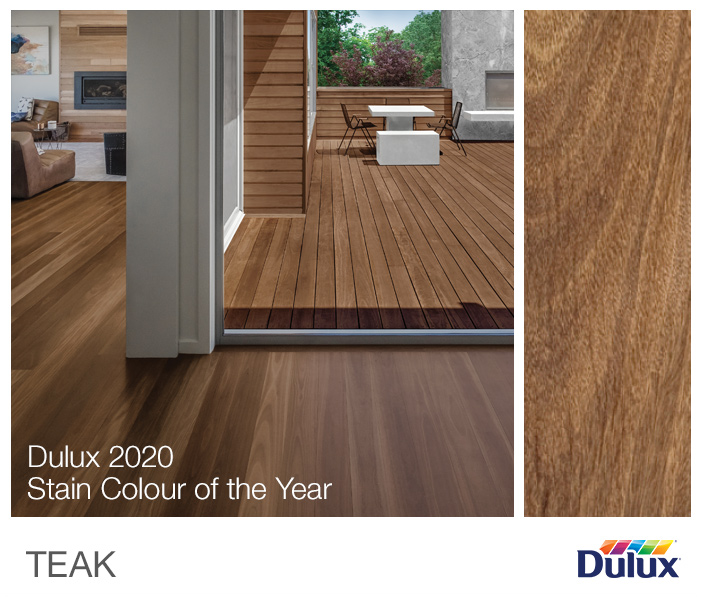 Dulux 2020 Stain Colour of the Year: Teak