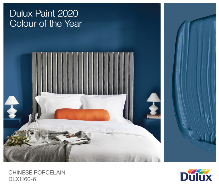 Dulux Paint 2020 Colour of the Year: Chinese Porcelain